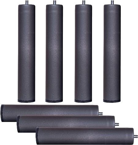 Bonitex Somier multiláminas con REGULADORES LUMBARES + 7 Patas. 135x200cm, FIRMEZA Adaptable, Tubo 40x30MM y LÁMINAS de Haya Natural Antideslizantes.