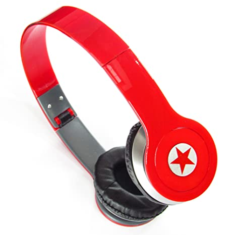 Auriculares de diadema con graves potentes plegable Equinox para DJ Cable antienredos (para iPhone,