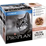 PRO PLAN Nutrisavour Housecat Cat Food Salmon 4x10x85g (40 Pouches)