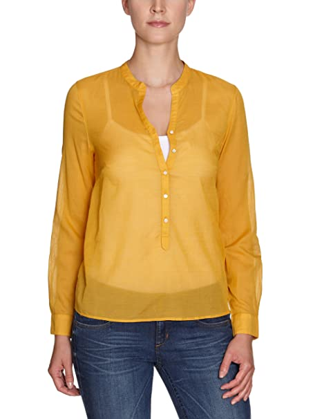 Part Two - Blusa de manga larga para mujer, talla 40, color Amarillo (