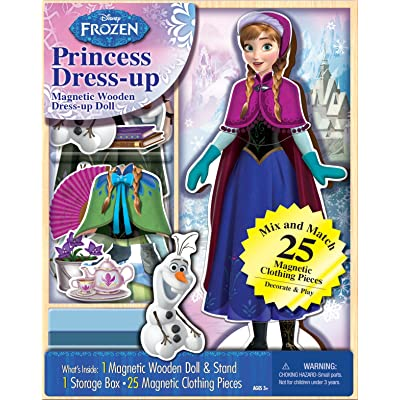 Bendon 06703 Disney Frozen Anna 25-Piece Wooden Magnetic Doll Dress-Up Kit: Toys & Games