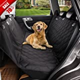 Deluxe Dog Seat Covers For Cars,Dog Car Seat Hammock Convertible,Universal Fit,Extra Side Flaps,Exclusive Nonslip,Waterproof Padded Quilted,