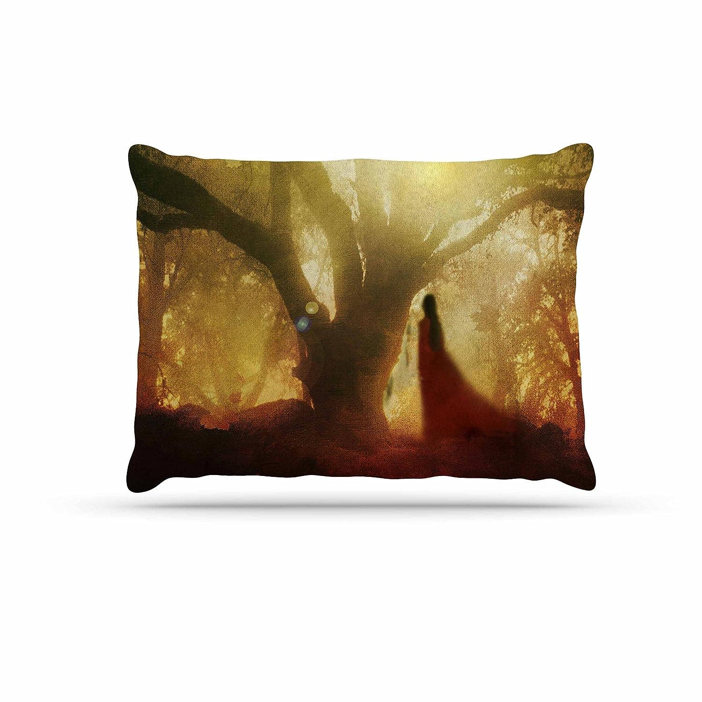 Kess InHouse Viviana Gonzalez Autumn Song  Yellow Tree Fleece Dog Bed, 30 by 40