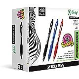 Zebra Pen Z-Grip Retractable Ballpoint Pen, Medium Point, 1.0mm, Assorted Business Colors, 48-Count