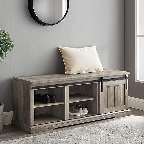 Crosley Furniture Adler Entryway Bench – White