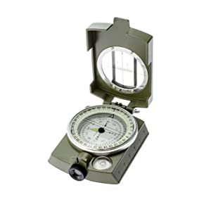 SE CC4580 MilitaryLensatic/Prismatic Sighting Compass