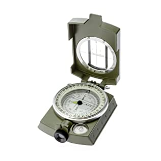 SE CC4580 MilitaryLensatic/Prismatic Sighting Compass