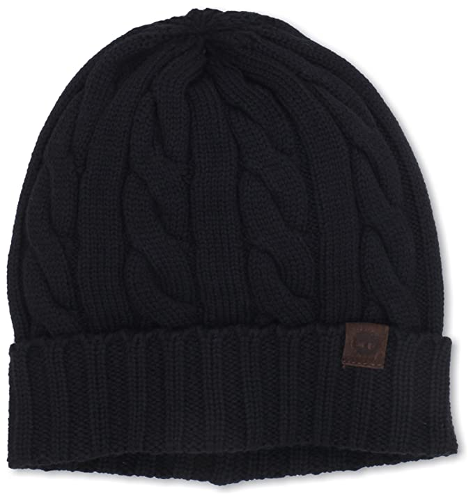 be835c7e8 Timberland Men's Merino Wool Cable Knit Cuff Beanie at Amazon Men's ...