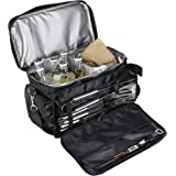 Teikis - BBQ Grill Accessories Tool Set with Insulated Water Proof Cooler Bag