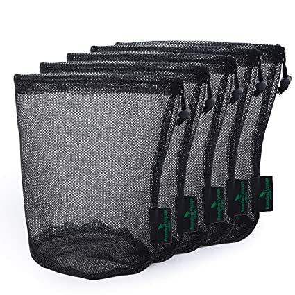 4b5c46e88931 Amazon.com: iBasingo 5 Pieces Durable Nylon Mesh Drawstring Bag ...