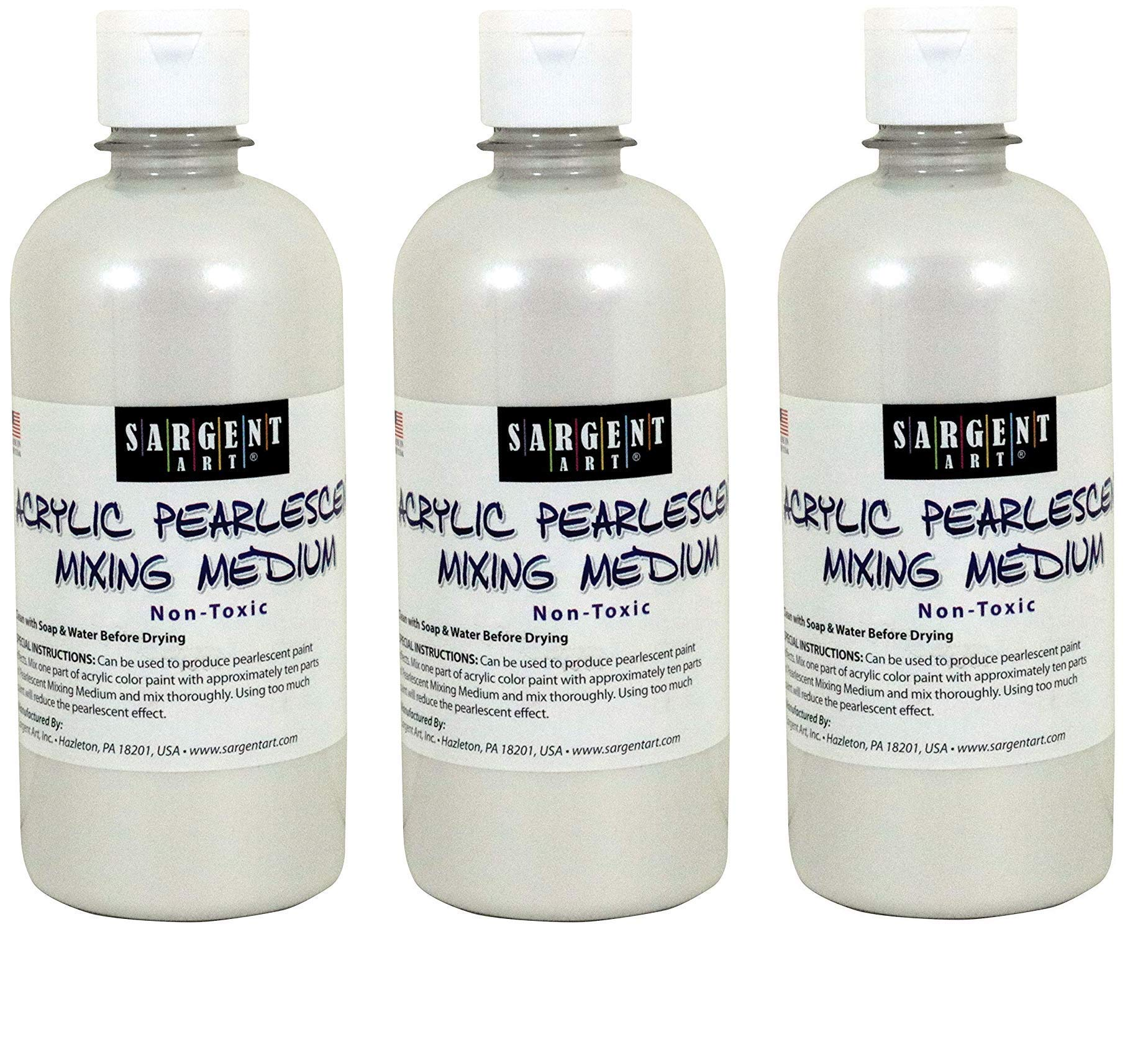 Sargent Art 22-8813 16-Ounce Pearlescent Mixing Medium (3-Pack)