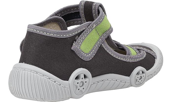 VIGGAMI Boys Slippers With Buckle Cornelius(Grey/Green, EU 25 = UK 8):  Amazon.co.uk: Shoes & Bags