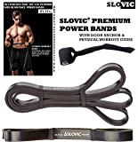 SLOVIC Resistance Band/Pull Up Band/Resistance Bands 42 Inch with Door Anchor for Calisthenics with Physical Booklet with 30 Exercises.