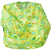green sprouts Easy wear Long Sleeve Bib for 2 to 4 Years Kids,Green