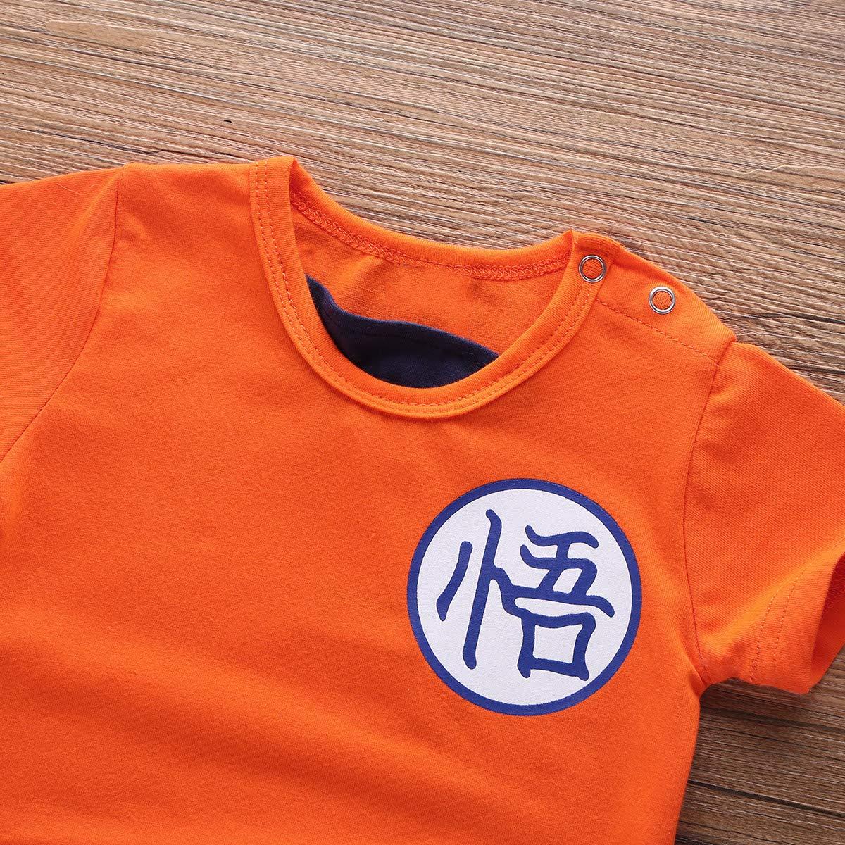 0-12 Meses YOOJIA Mono Disfraz de Goku Beb/é Ni/ños Mameluco Divertido S/úper H/éroe Peleles Romper Disfraz Infantil