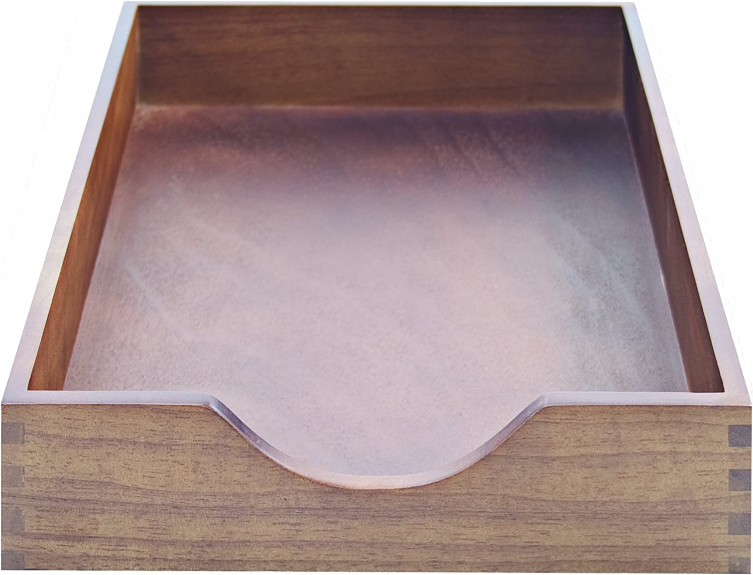 Carver Hardwood Stackable Desk Tray, Letter Size, 13.5 x 11 x 2.75 Inches, Walnut Finish (CW07212)