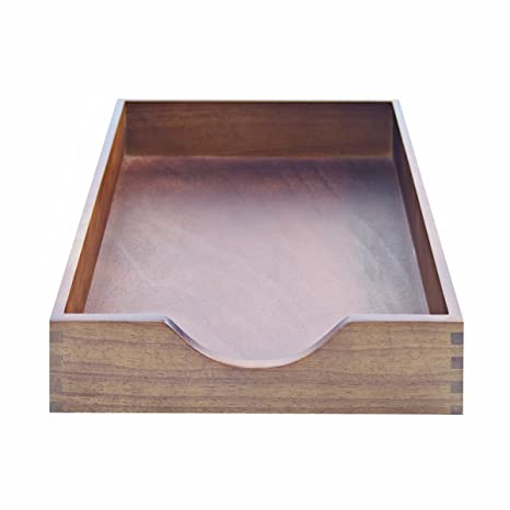 Carver Hardwood Stackable Desk Tray, Letter Size, 13.5 X 11 X 2.75 Inches,
