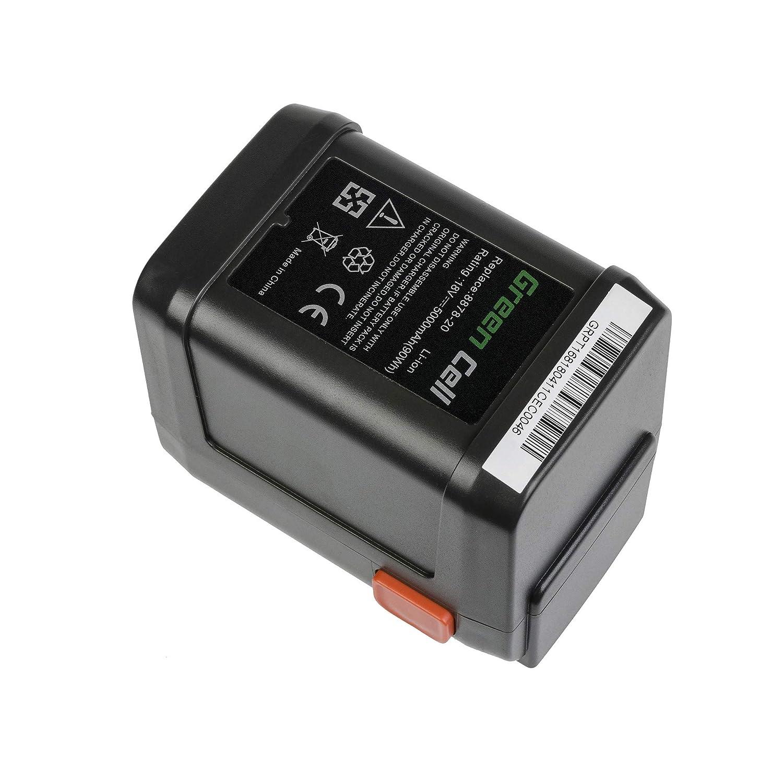 Green Cell/® 8835 8839 8835-20 8839-20 8835-U 8839-U 5Ah 18V Li-Ion Batterie pour Gardena AccuCut 18-Li//Li 400//Li 450 AccuJet 18-Li CST 2018-Li EasyCut 50-Li HighCut//ErgoCut 48-Li 8865 8878 8882 9333