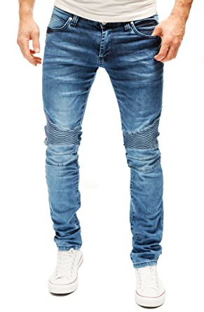 MERISH Jeans Men Biker Style Light Blue Denim Slim Fit Modell J1167 ... c324b9db1a39