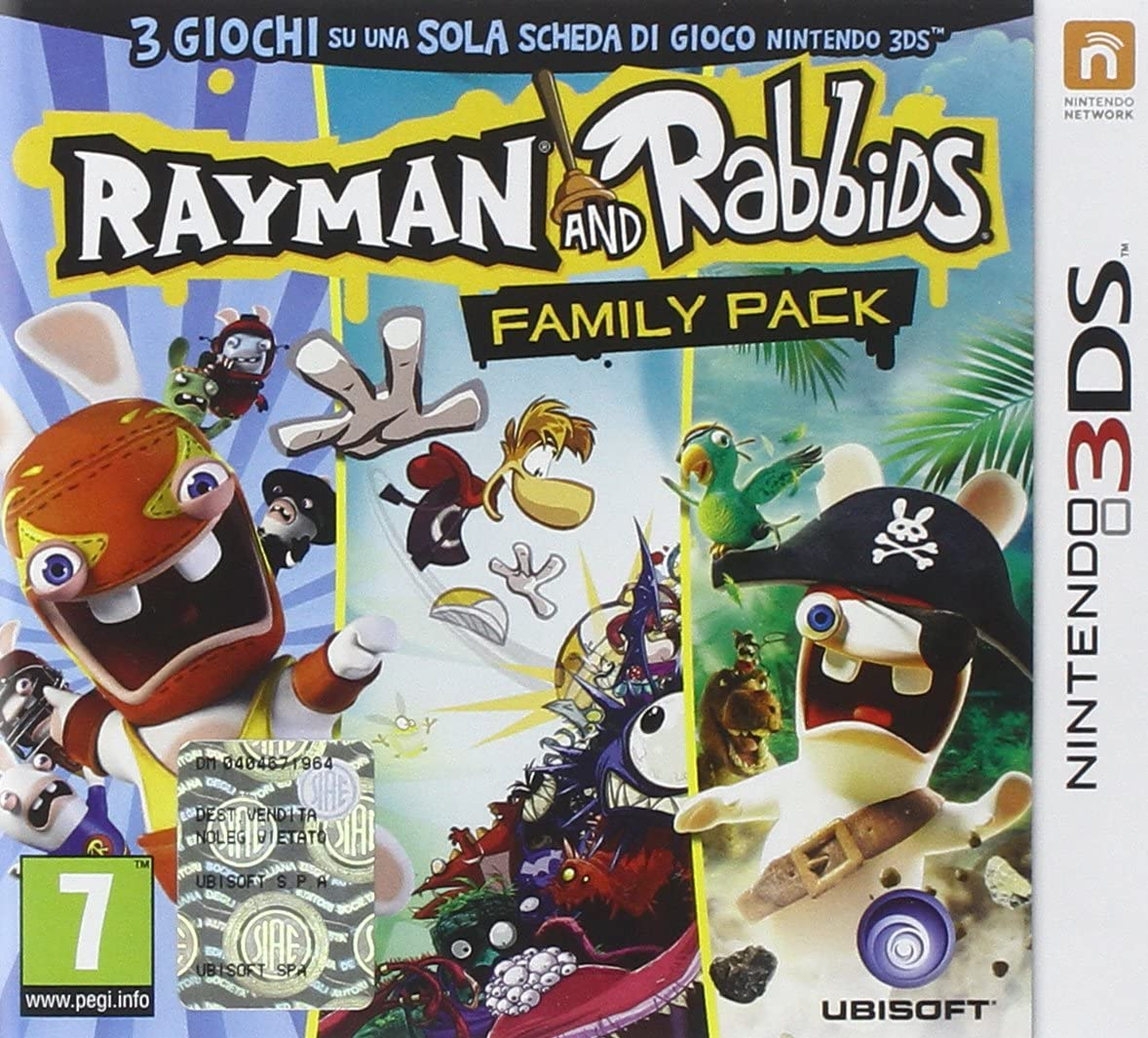 Ubisoft Rayman and Rabbids Family Pack, Nintendo 3DS - Juego (Nintendo 3DS, Nintendo 3DS, Acción / Aventura, E (para todos)): Amazon.es: Videojuegos
