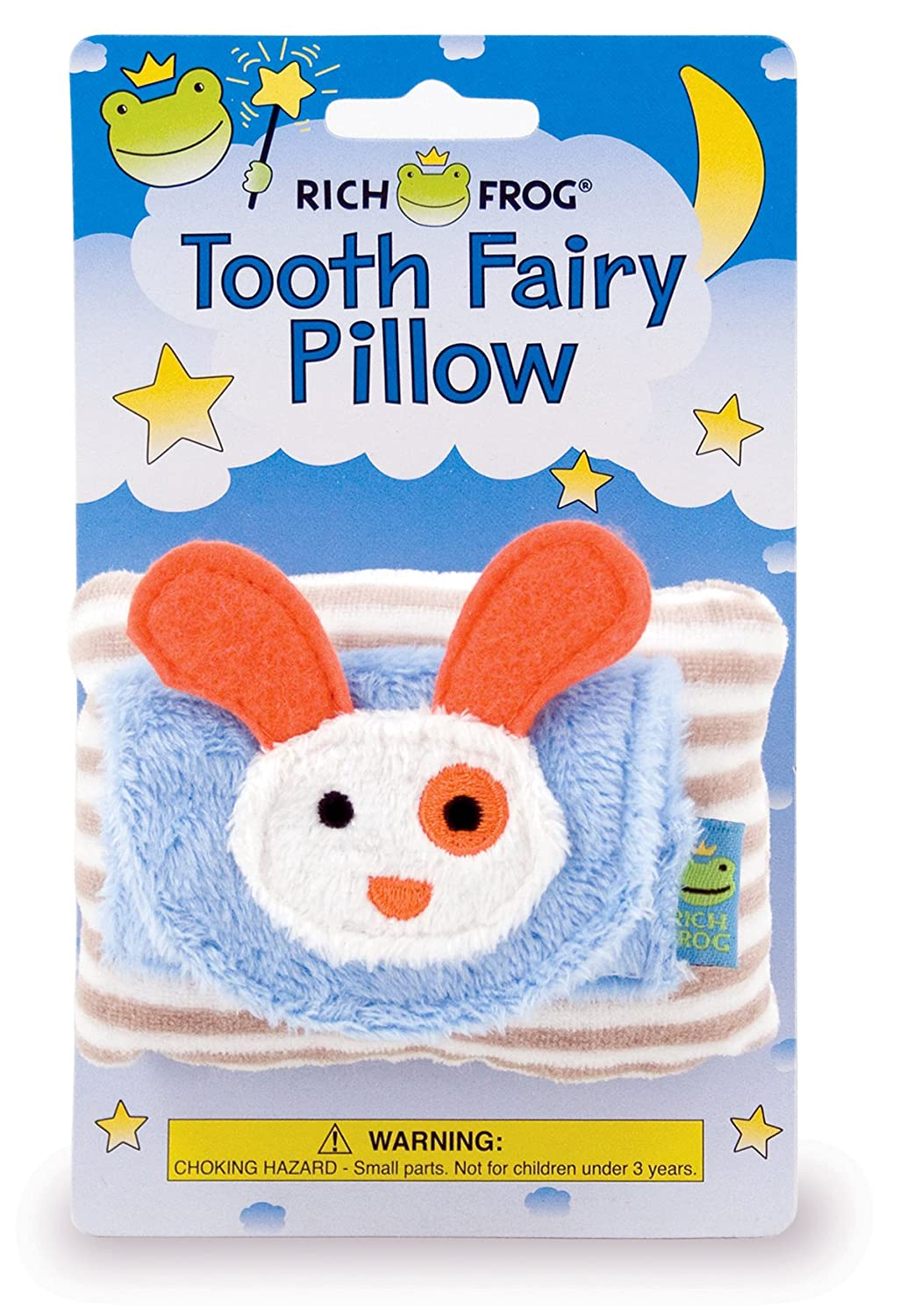 Rich Frog Boy Tooth Tooth Fairy Pillow and Tooth Keepsake, Blue - 4 Blue - 4 5460