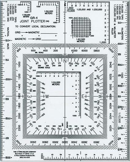 Westcott UTM - Plotter de junta y lector de mapas, 12,7 x 15,2 cm ...