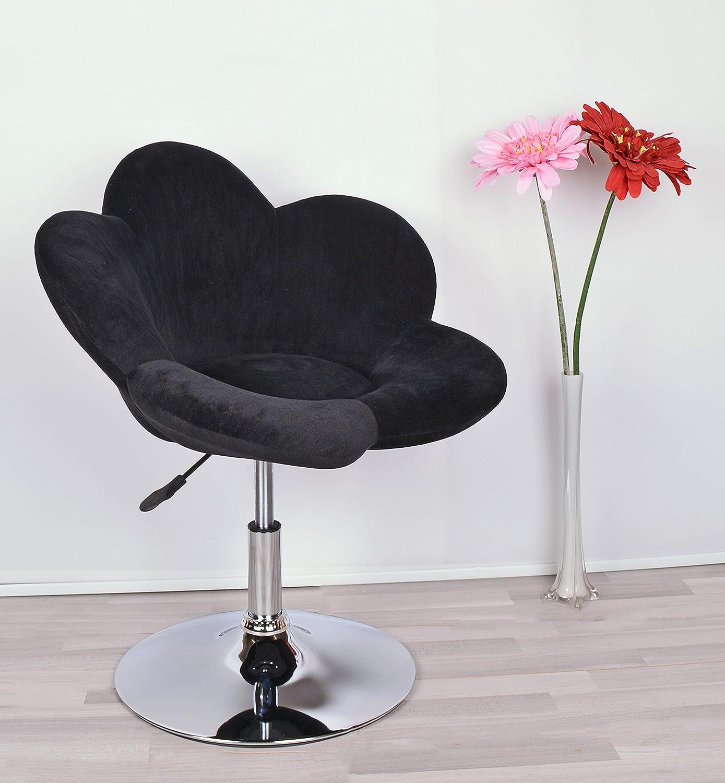 ts-ideen 1x Barhocker Polstersessel Blume Schwarz Lounge Sessel ...