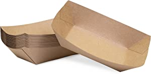 3 lb Kraft Disposable Paper Food Tray for Carnivals, Fairs, Festivals, Concession Stands, Food Trucks (Kraft - large 3 lb, 50 pack)