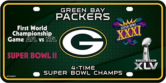 Baltimore Ravens 2X Super Bowl Champions Aluminum License Plate Tag Football