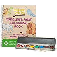 Honeysticks My First Colouring Book and Non Toxic Watercolour Paint Set, Premium Quality Jumbo Colouring Book Made with…