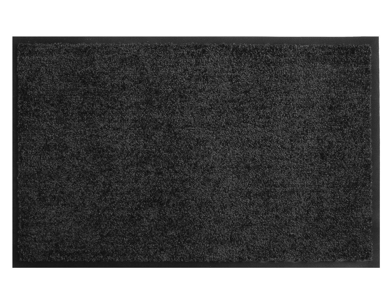 Primaflor - Ideen in Textil Schmutzfangmatte CLEAN – Anthrazit Anthrazit Anthrazit 90x120 cm, Waschbare, Rutschfeste, Pflegeleichte Fußmatte, Eingangsmatte, Küchenläufer Matte, Türvorleger für Innen & Außen B06W5BH3XB Fumatten 8f3f6d