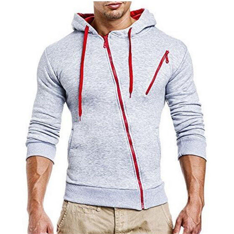 Jeff Tribble Fashion Men Hoodies Leisure Sweatshirt Casual Oblique Zipper Hooded Jackets M-XXXL