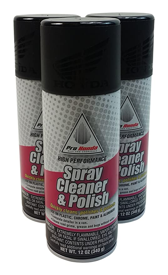 Honda 08732 SCP00x3 Spray Cleaner And Polish 12 Oz 3 Cans
