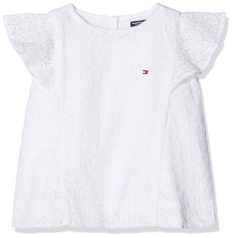 Tommy Hilfiger Girl's C Broderie Anglais Top S/S Vest KG0KG03179