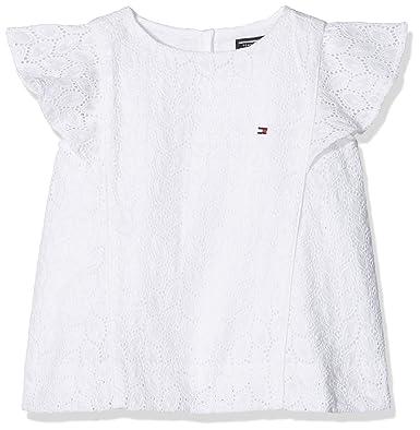 Tommy hilfiger blusa de niña en blanco sin mangas infantil 1