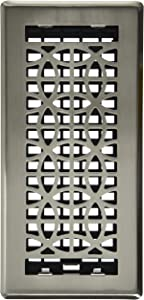 Decor Grates ECH410-NKL Eclipse Plated Floor Register, 4-Inch by 10-Inch, Nickel