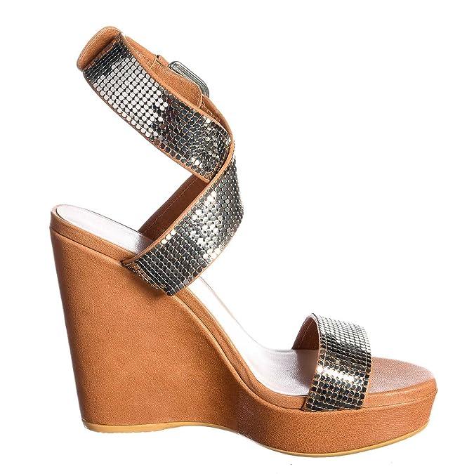 Stuart Weitzman 5513M Sandali Zeppe Donna metalmania Scarpe Women Sandals Shoes [35.5] U1WAqkp