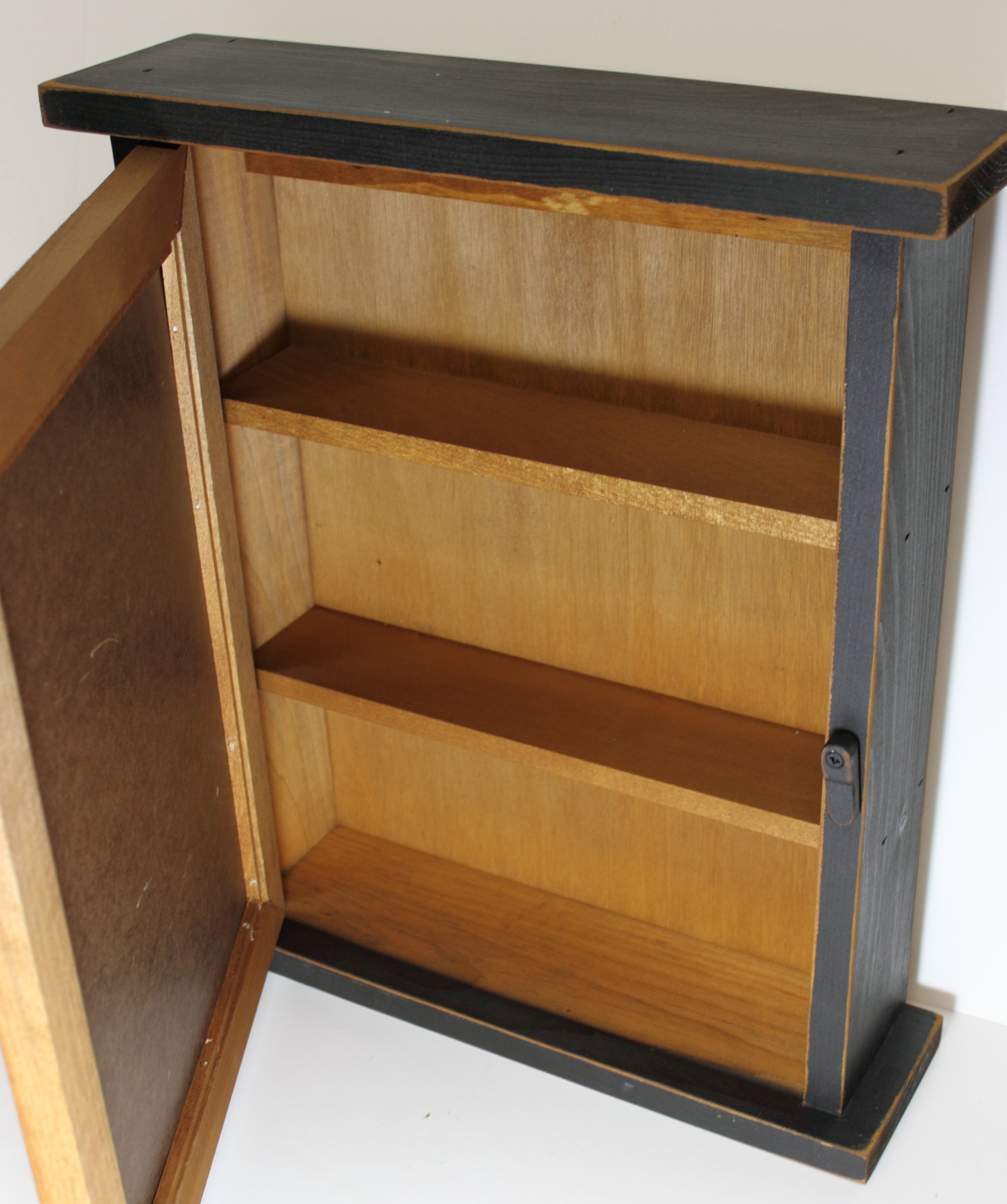 Country Rustic Primitive Three Star Spice Cabinet