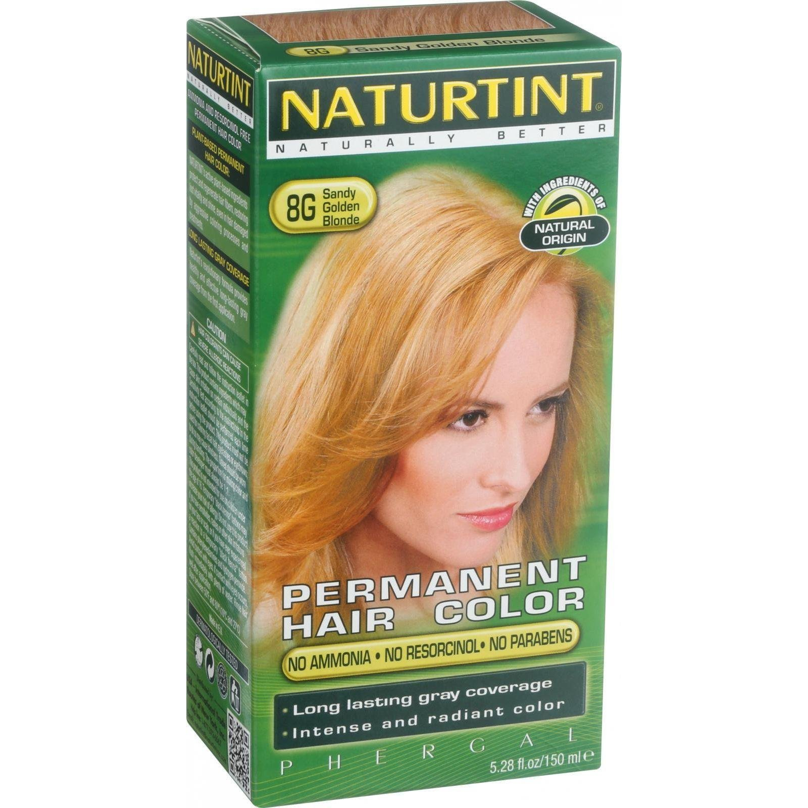 Naturtint Permanent Hair Color - 8G Sandy Golden Blonde, 5.28 fl oz (6-pack) by Naturtint by Naturtint