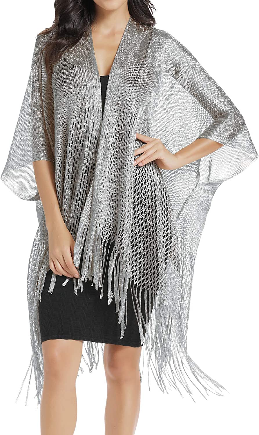 Large Metallic Shawls Wraps...