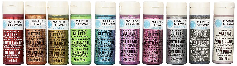Martha Stewart Crafts Glitter Acrylic Craft Paint Set 32309 10 Colors Ebay