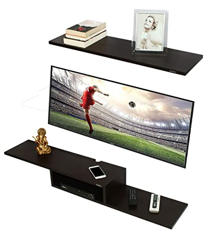 b733494ad0a Anikaa Archie TV Entertainment Unit Wall Set Top Box Stand Shelf (Wenge  Big)  Amazon.in  Home   Kitchen
