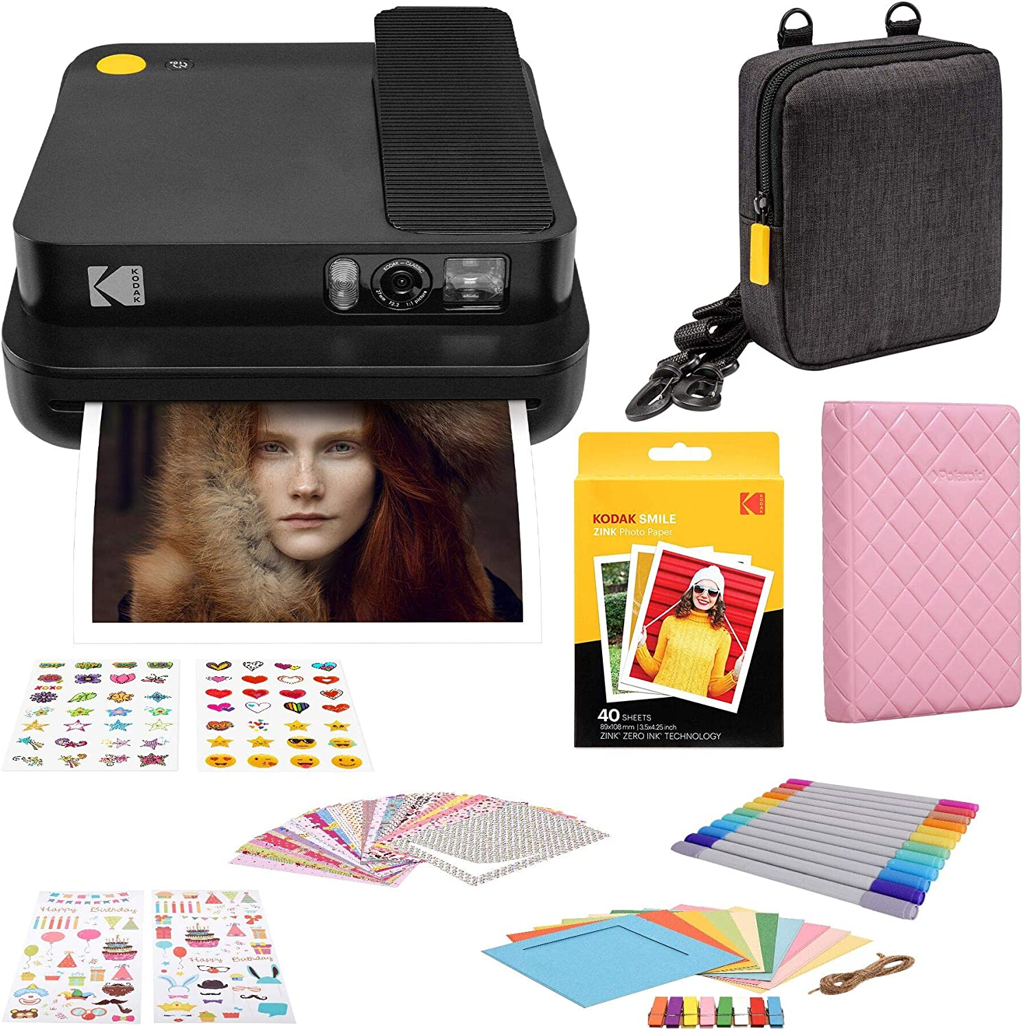 Kodak 3.5x4.25 inch Premium Zink Print Photo Paper Compatible with Kodak Smile Classic Instant Camera 40 Sheets