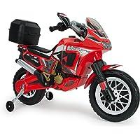 INJUSA–Moto Honda Africa Twin à Batterie 6V pour Enfants de 3Ans avec Valise portaequipaje, Rouge (6827)