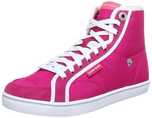 Björn Borg Footwear Lloyd Mid Nyl 1311 091520, Damen Sneaker, Pink (fuchsia-Neon Coral 5648), Eu 39