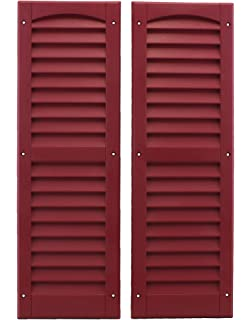 Black Outdoor Play and Storage LOUVERED Shutter 9X30 Pair