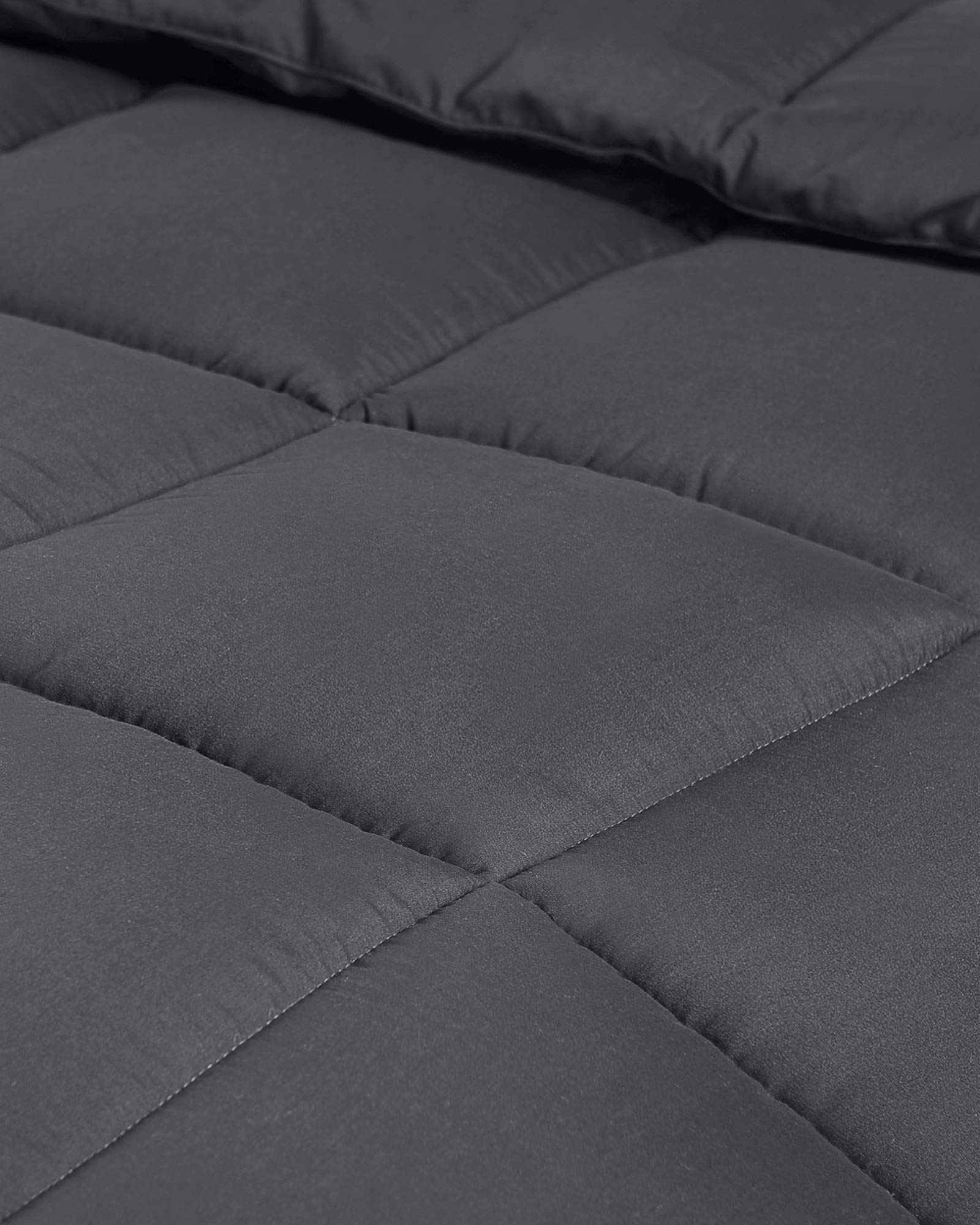 Utopia Bedding All Season 250 GSM Comforter - Soft Down Alternative Comforter - Plush Siliconized Fiberfill Duvet Insert - Box Stitched (Full/Queen, Grey) by Utopia Bedding (Image #7)