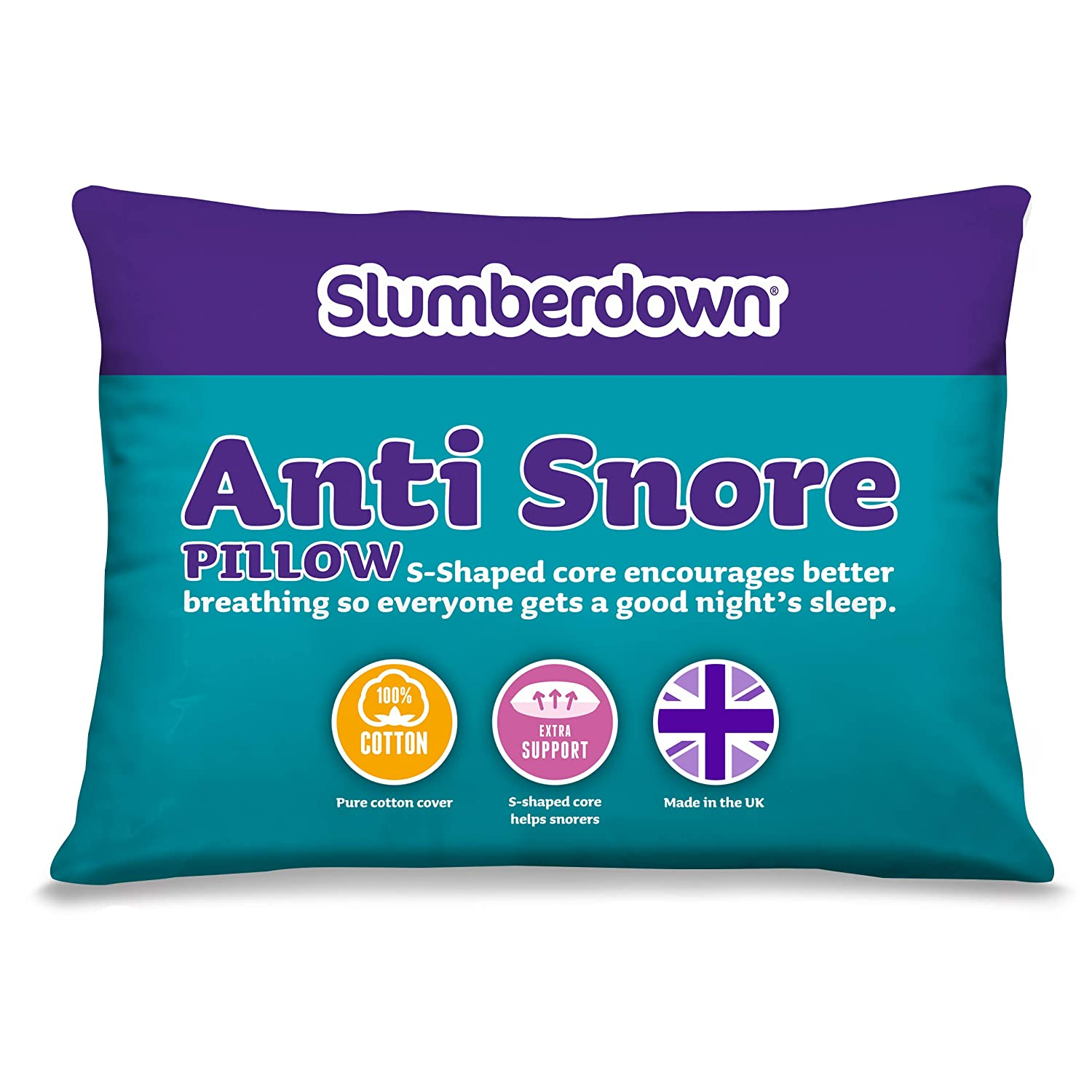 Slumberdown Anti-Snore Pillow, White 4033AMZ77