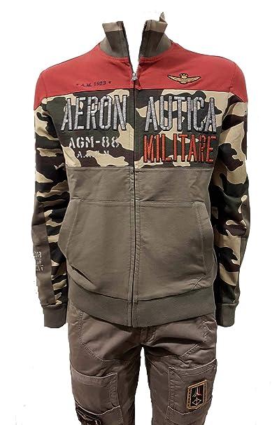 Aeronautica Militare - Sudadera Felpa FE1323-90646 Rojo-Camouflage ...