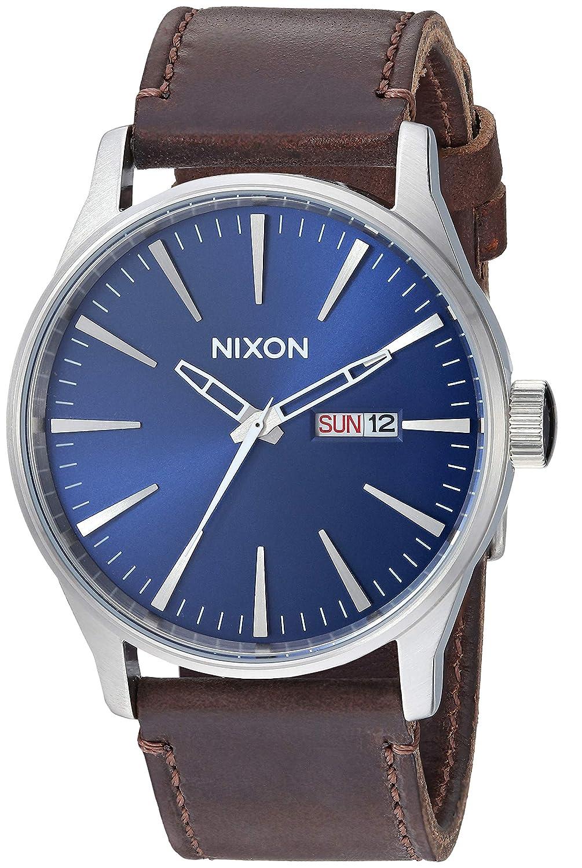 cf824344dc3 Nixon mens a sentry leather watch nixon watches jpg 1005x1500 Nixon sentry  watch